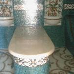 Мраморная столешница в хамам