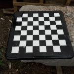 Шахматная доска с закругленными углами и фасонной обработкой торца
