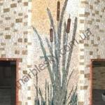 Мозачная картина из мрамора для камина