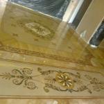 Мозаичное панно для пола и стен из мрамора и оникса