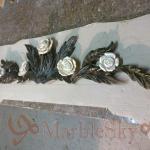 Резьба по мрамору, резные цветы из камня